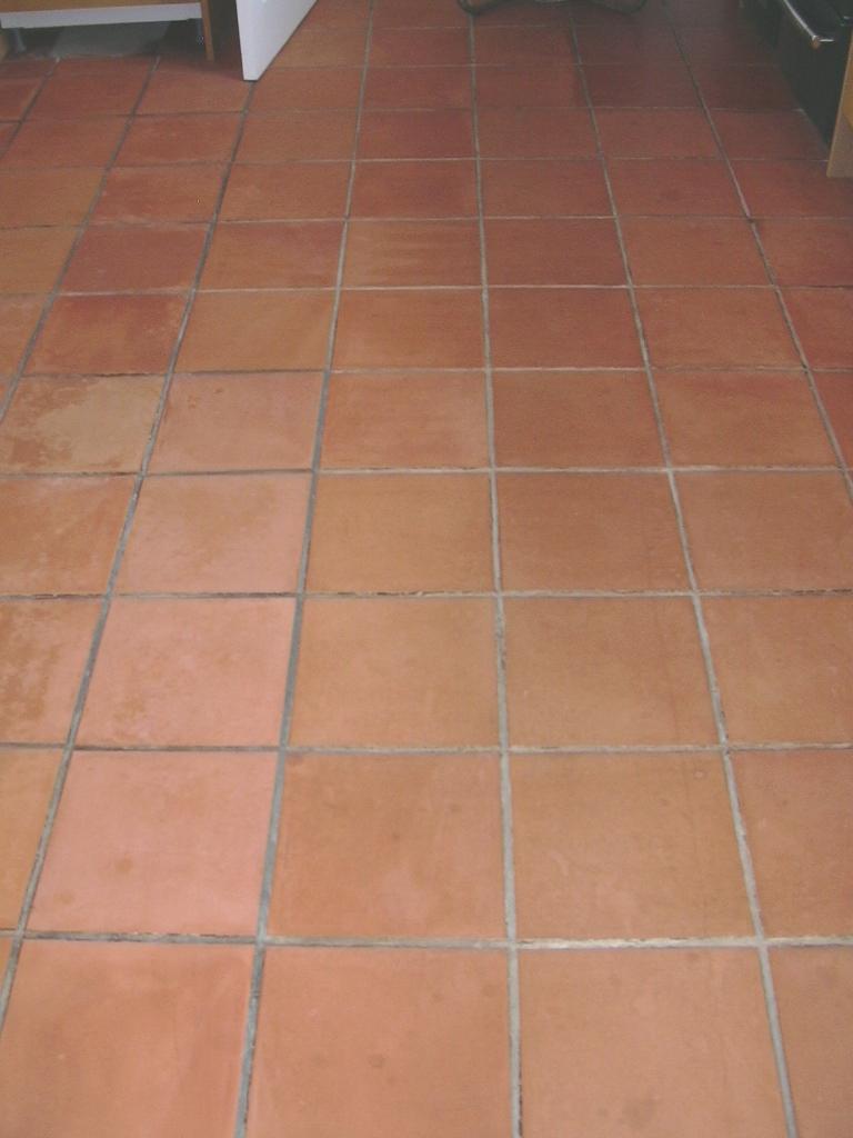 Terracotta Kitchen Floor Cleaning Epsom Surrey Tile