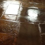Flagstone floor after sealing