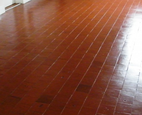 Quarry tile kitchen after clean and seal