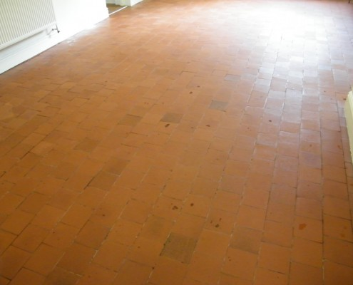 Quarry tile kitchen after cleaning