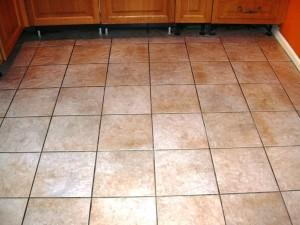 Ceramic floor after