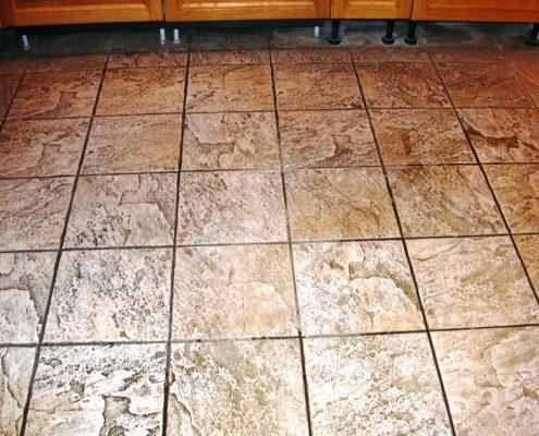 Ceramic floor before