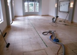 Limestone pool room in Knutsford before cleaning