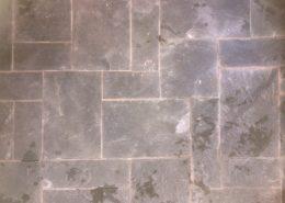 Slate Floor Before Cleaning & Sealing