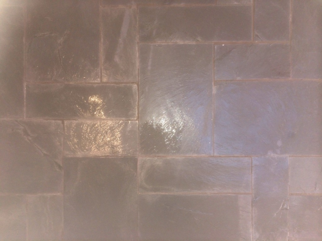 how to clean slate tiles before sealing