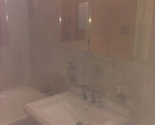 Cleaning & Sealing Limestone Tiled Wetroom