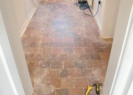 Quarry tile cleaning and sealing in Tarvin Cheshire