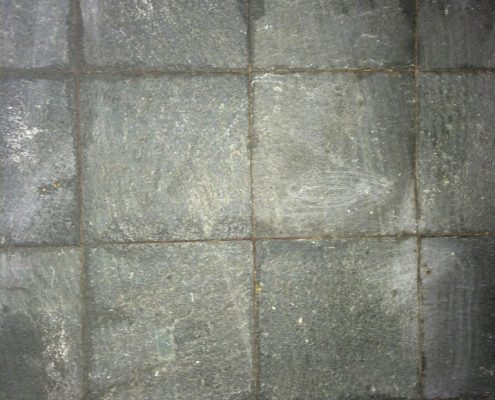 Slate stripped of all sealer, polisese and dirt