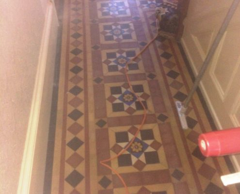 Victorian Floor before cleaned