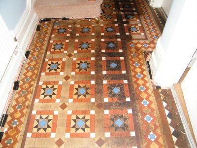Victorian Hall floor before