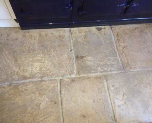 Flagstone after cleaning