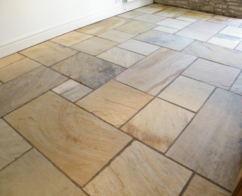 Indian stone floor after cleaning