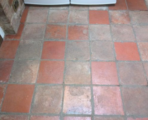 Terracotta before clean and seal