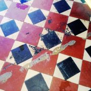 Victorian Minton Tile Floor Before Cleaning