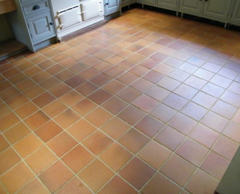Quarry tile cleaned and sealed