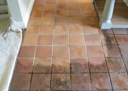 Quarry tile half and half