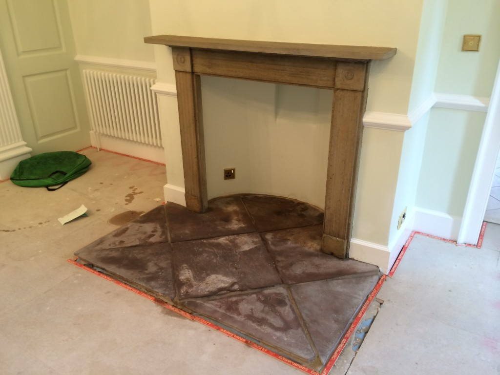 Natural Stone Fireplace Cleaning And Sealing Chipping Campden Cotswold Gloucestershire Tile
