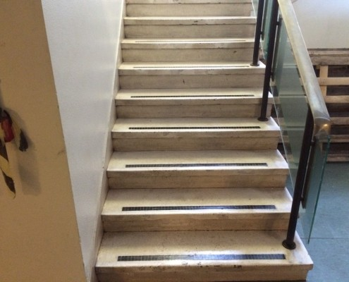 Stairs after repair
