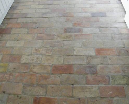 Suffolk brick kitchen floor after cleaning
