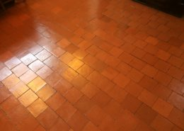 Quarry Tile after sealing
