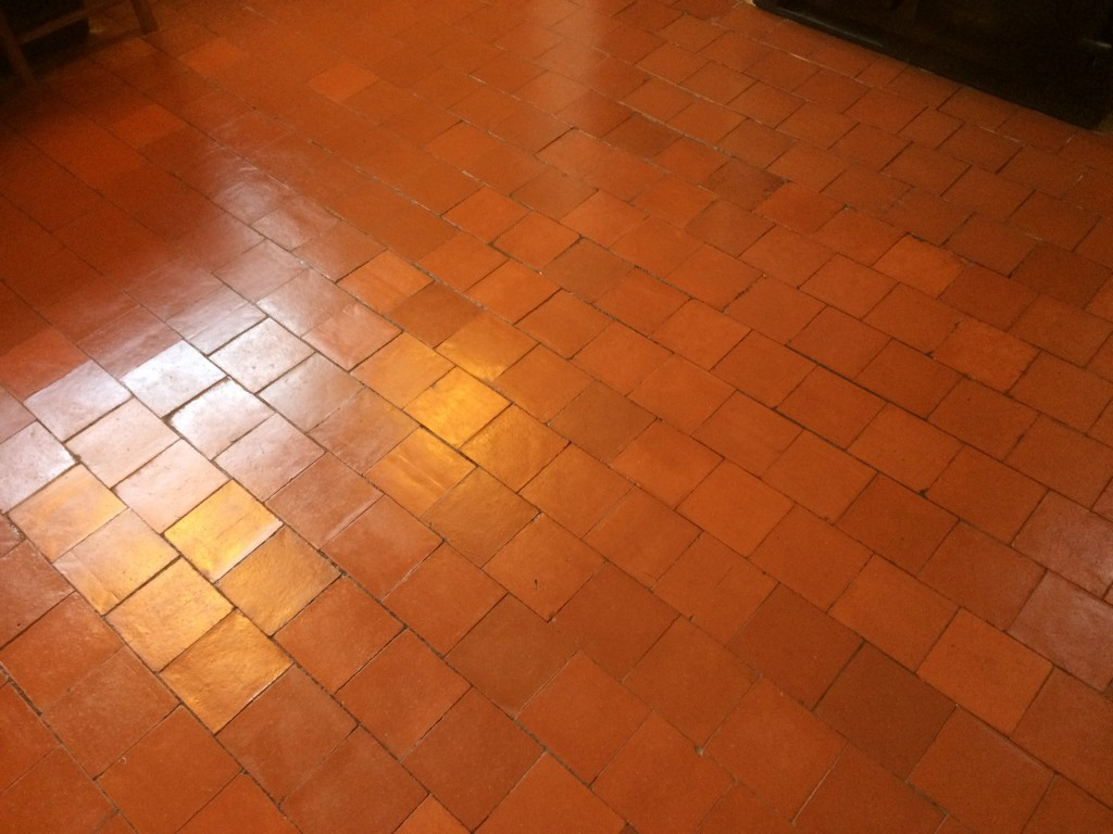 Quarry Tile after sealing