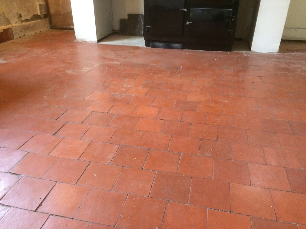 Quarry Tile before cleaning