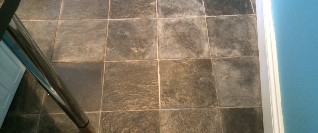 Before Slate tile Cleaning