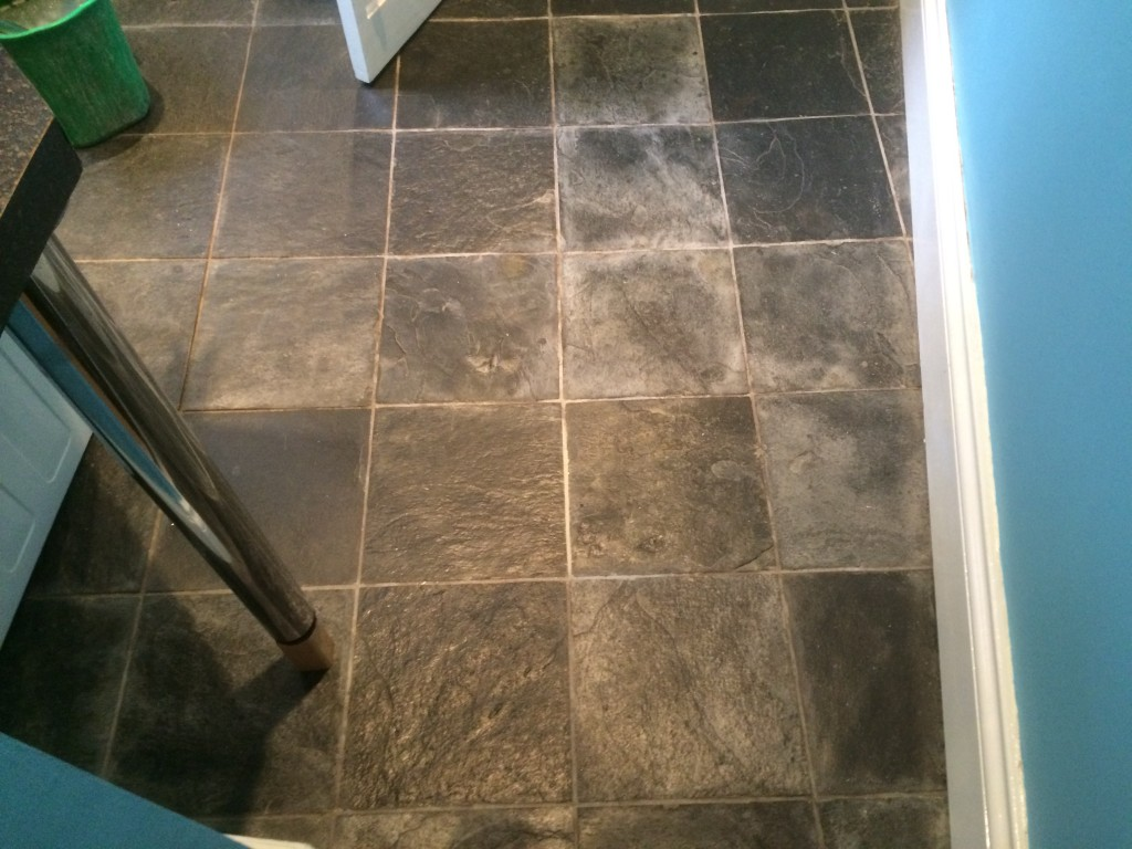how to clean slate tiles before laying