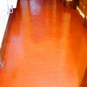 Dorset Quarry tiled floor after cleaning and sealing