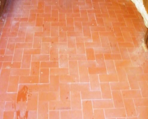 Dorset Quarry tiled floor before