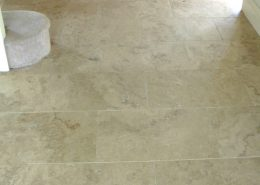 Dorset Travertine Hall floor after cleaning and sealing 1