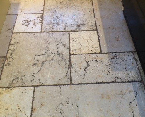 Travertine Before Cleaning