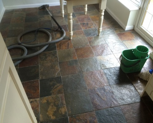 Before Cleaning Slate
