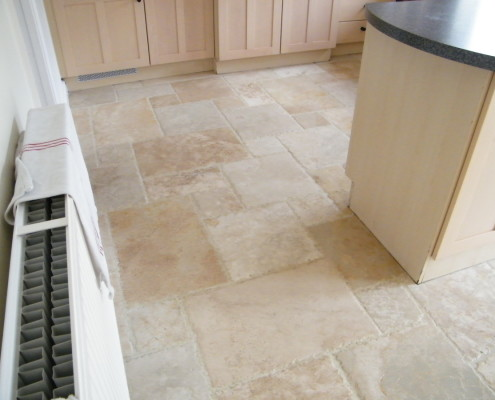 Chiseled edge Travertine after cleaning