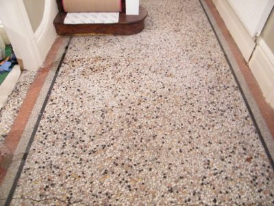 Terrazzo after cleaning