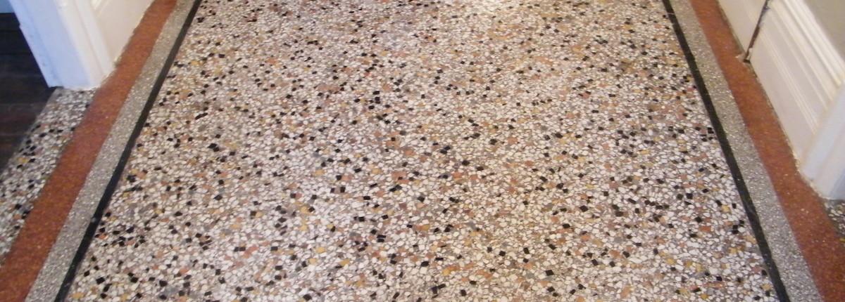 Terrazzo after sealing and polishing