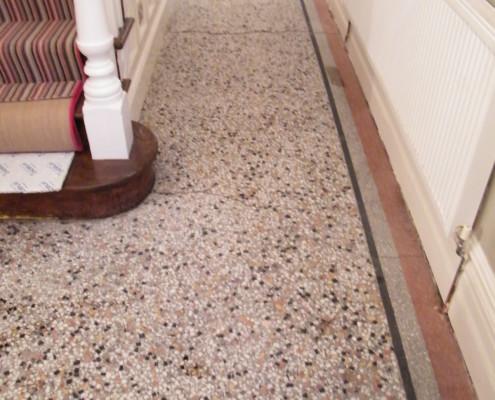 Terrazzo floor after cleaning 2