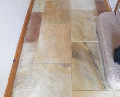 Textured Limestone after cleaning
