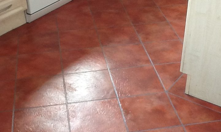 Before cleaning Amtico