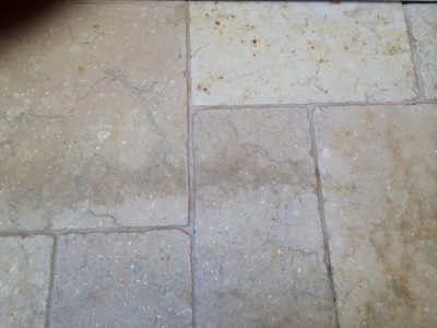 After cleaning Travertine