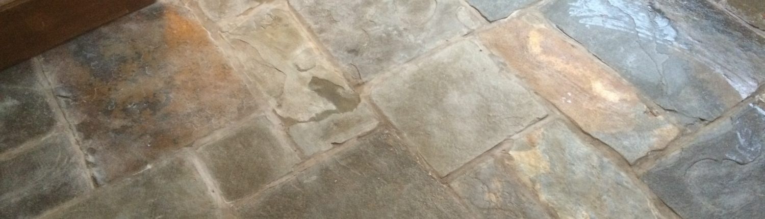 Flagstone before cleaning