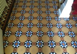 Victorian Minton Floor before cleaned, & polished.