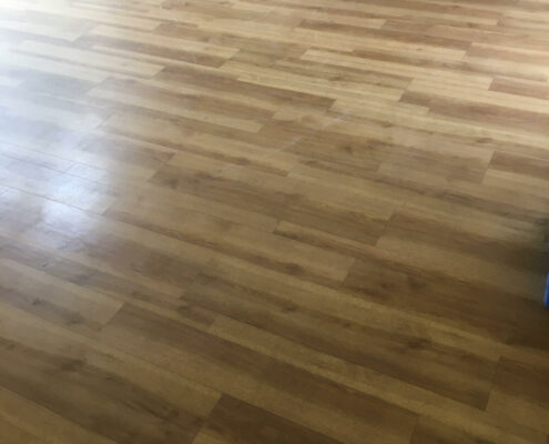 Amtico floor in Little Ness, Neston, Wirral before cleaning