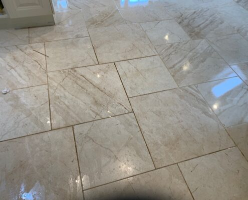 Ceramic Floor and Grout Cleaning and Sealing in Worcester, Worcestershire - before