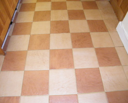 Ceramic kitchen floor in Stafford after cleaning