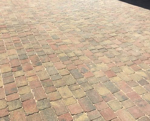 Clean and re sand of Block pavers to driveway in Goostrey, Cheshire. after