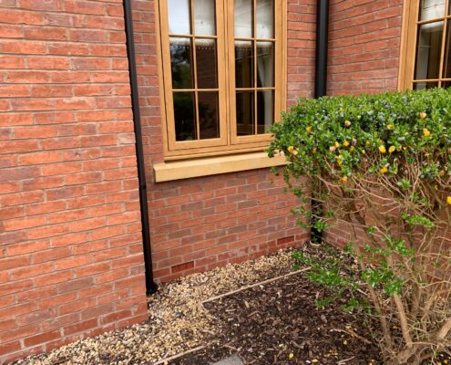 Exterior stone window sills deep cleaning and sealing in Dorridge, Solihull, West Midlands, after