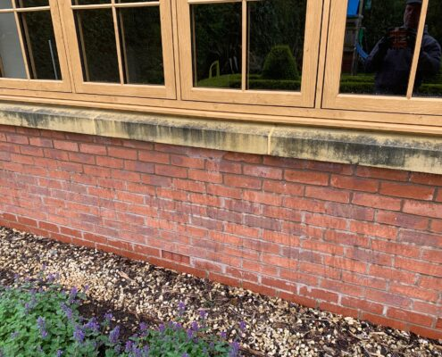 Exterior stone window sills deep cleaning and sealing in Dorridge, Solihull, West Midlands, before