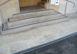 Gritstone steps after cleaning