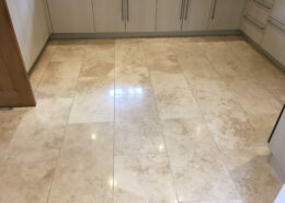 Limestone floor cleaning in Parkgate, Wirral after cleaning, sealing and polishing